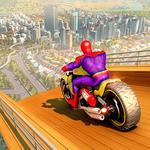 Super Hero Bike Mega Ramp Impossible Stunts Racing icon