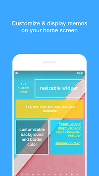 Memo Widget (to-dos&ideas) APK screenshot 1
