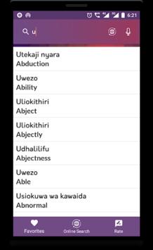 Swahili To English Translator APK screenshot 1