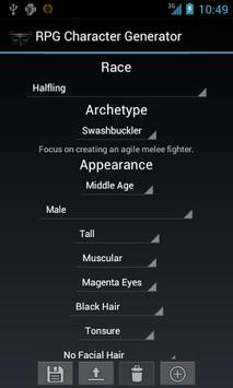 RPG Character Generator APK screenshot 1