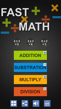 Fast Math for Kids with Tables APK screenshot 1