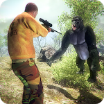 Gorilla Animals Hunting 3D Wild Apes Shooting 2018 icon