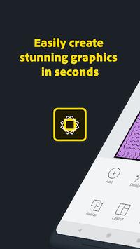 Adobe Spark Post: Graphic design made easy APK screenshot 1