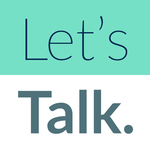 Let's Talk. prompts for meaningful small talk. icon