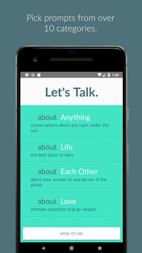 Let's Talk. prompts for meaningful small talk. APK screenshot 1