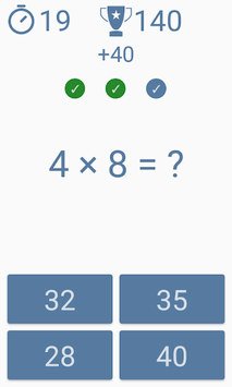 Multiplication table APK screenshot 1