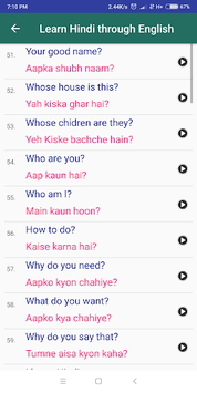 Learn Hindi through English APK screenshot 1