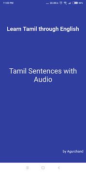 Learn Tamil through English APK screenshot 1