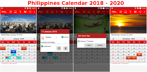Philippines Calendar pc screenshot