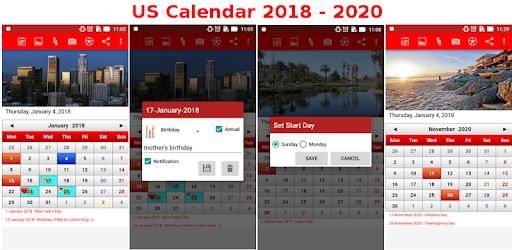 US Calendar 2018 - 2019 pc screenshot