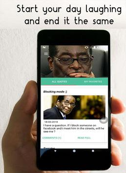 Robert Mugabe Funny Quotes APK screenshot 1