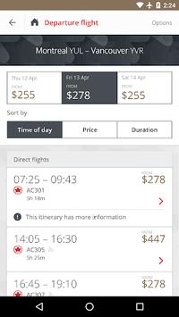 Air Canada APK screenshot 1