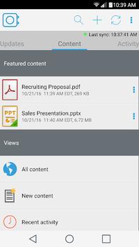 Content - Workspace ONE APK screenshot 1