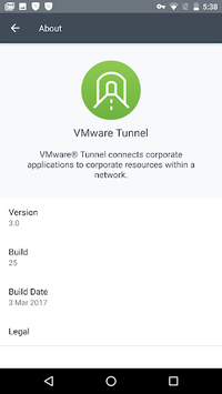 VMware Tunnel APK screenshot 1