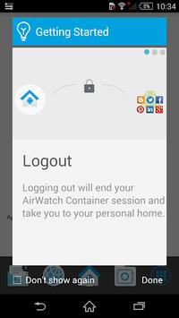 AirWatch Container APK screenshot 1