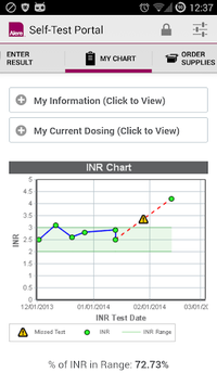 Alere CoagClinic® Self-Test Portal APK screenshot 1