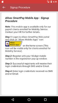 Allsec SmartPay Mobile Service APK screenshot 1