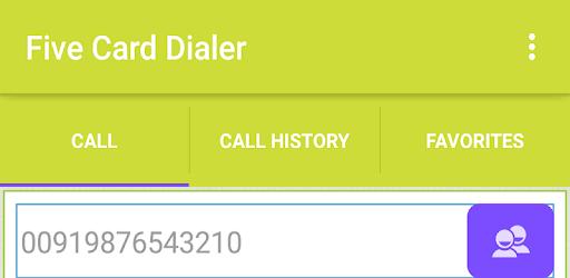 Five Card Dialer pc screenshot