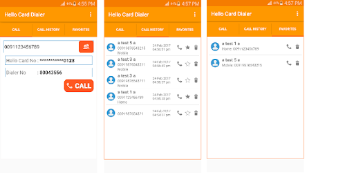Hello Card Dialer pc screenshot