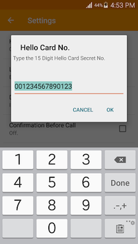 Hello Card Dialer APK screenshot 1