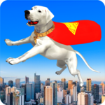 Flying Superhero Dog Hero City Rescue: Dog Games icon