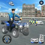 US Police Moto ATV Quad Bike Transporter Game icon