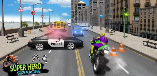 Superhero Stunts Bike Racing Games pc screenshot