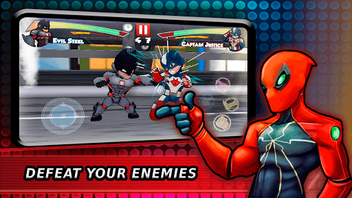 Superheroes Fighting Games Shadow Battle APK screenshot 1