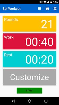 Interval Timer - HIIT APK screenshot 1