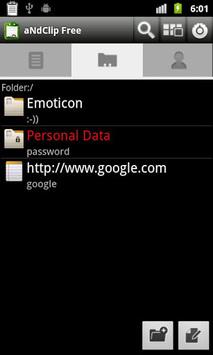 aNdClip Free - Clipboard ext - APK screenshot 1