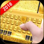 Golden Smart Keyboard with Emoji icon