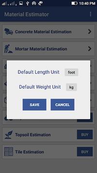 Material Estimator for Civil Construction Work APK screenshot 1