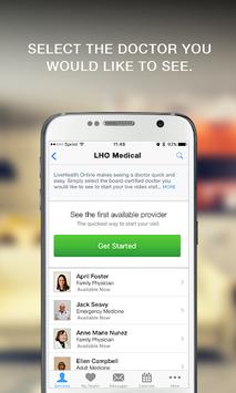 LiveHealth Online Mobile APK screenshot 1