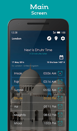 Prayer Times, Adhan, Qibla APK screenshot 1