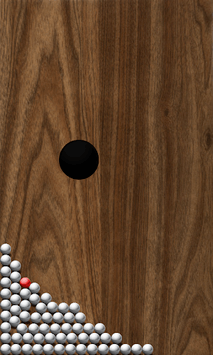 Roll Balls into a hole APK screenshot 1