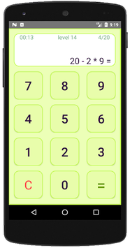 Mental arithmetic. Math workout APK screenshot 1