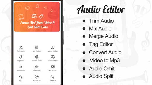 Audio Editor : Cut,Merge,Mix Extract Convert Audio APK screenshot 1