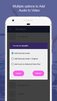 Add Audio to Video : Audio Video Mixer APK screenshot 1