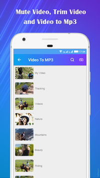 Video to Mp3 : Mute Video /Trim Video/Cut Video APK screenshot 1