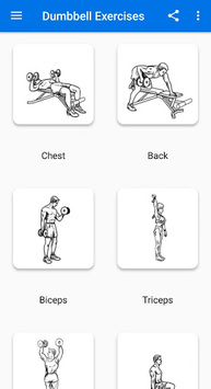 Dumbbell Exercises APK screenshot 1