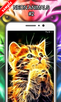 Neon Animals Wallpaper APK screenshot 1
