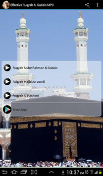 Effective Ruqyah Al Sudais MP3 APK screenshot 1