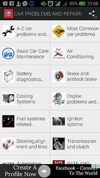CAR PROBLEMS AND REPAIRS APK screenshot 1