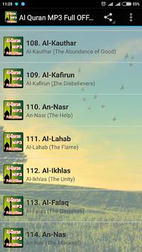 Al Quran MP3 Full Offline APK screenshot 1