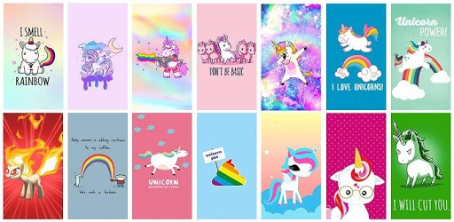 Kawaii Unicorn Wallpaper pc screenshot