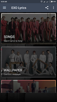 EXO Lyrics (Offline) APK screenshot 1