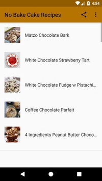 No Bake Cake Recipes APK screenshot 1