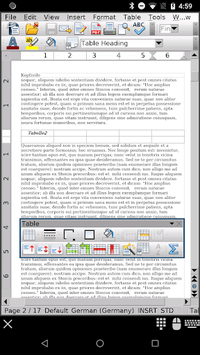AndrOpen Office APK screenshot 1