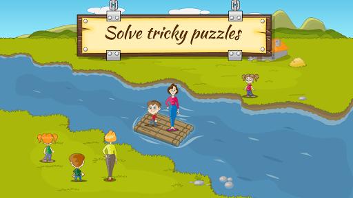 River Crossing IQ Logic Puzzles & Fun Brain Games APK screenshot 1