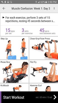 Anytime Workouts APK screenshot 1